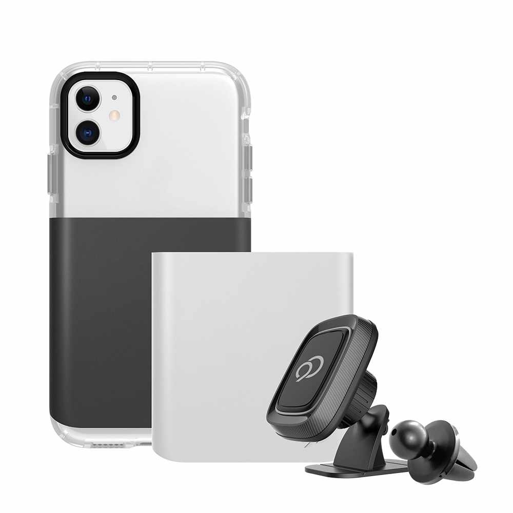 Nimbus9 Ghost 2 Pro Case Gunmetal Gray/Pure White for iPhone 11