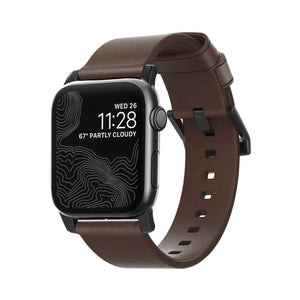 Nomad Modern Leather Band Rustic Brown for Watch 40/38mm