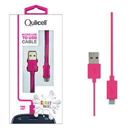 Colour Burst Charge & Sync Micro USB Cable Pink