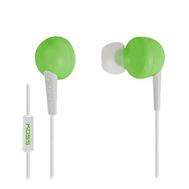Koss Earbud KEB6 In Ear w/Enhanced Driver & Mic Green