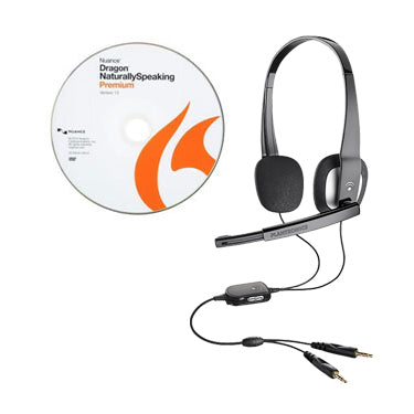 Dragon Naturally Speaking 13 Premium CD w/Plantronics 610