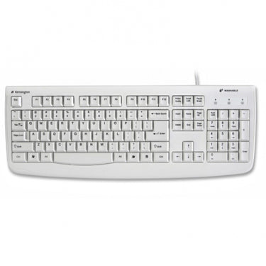 Kensington Keyboard Wired USB Washable Keyboard White