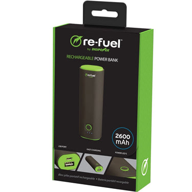 ReFuel 2600 mAh 1-Port USB Rechargeable Power Bank