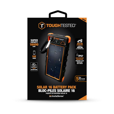 Tough Tested 16000mAh Powerbank SolarWaterproof IP67