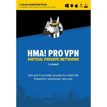 Avast HMA Pro VPN 1-Year for 5 Connections BIL
