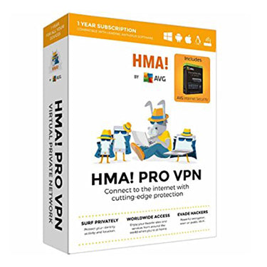 AVG HMA Pro VPN w/AVG Internet Security Unlimited 1Yr BIL