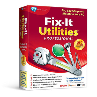 Avanquest Fix-It Utilities 12 Professional 5-User BIL