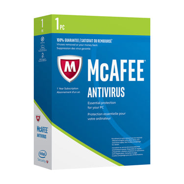 Mcafee Antivirus 1-User 1Yr BIL