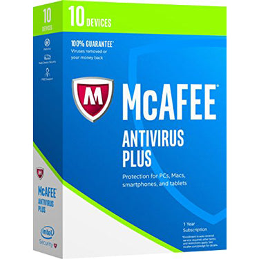 Mcafee Antivirus 10-User 1Yr BIL