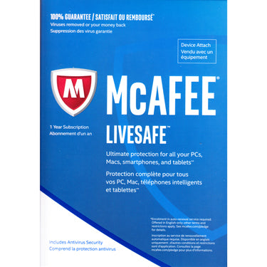 Mcafee Livesafe Ultimate ESD Protect All Devices Attach 1Yr