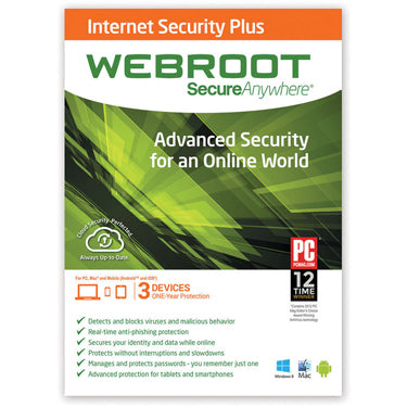 Webroot Internet Security SecureAnywhere 3-User 1Yr