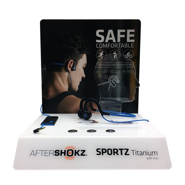 PROMO Aftershokz POP Display Sportz Titanium FREE w/4 Unit