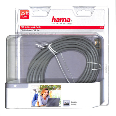 Hama CAT 5e Network Cable Grey 25ft