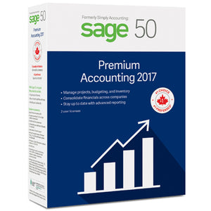 Sage 50 2017 Premium Accounting 2-User BIL Canadian