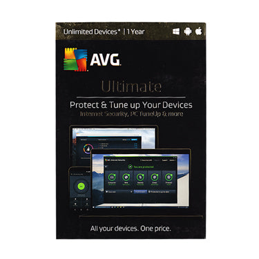 AVG Ultimate Unlimited Device Int. Security & Tuneup 1Yr BIL