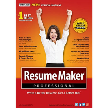 Resume Maker Professional Version 18 Deluxe