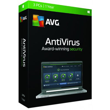 AVG Antivirus 3-User 1Yr BIL