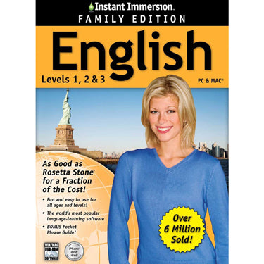 Instant Immersion Family Edition English 1-3 BIL