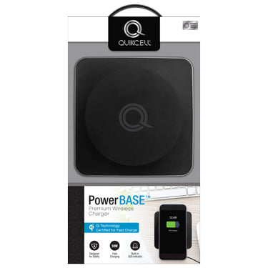 Quikcell Qi Charge Pad 10w PowerBASE Black