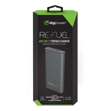 ReFuel 26,000 mAh 2 USB A 1 USB C in out 60W PD Power Bank