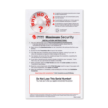 Trend Micro 2019 Maximum Security 5-User OEM PKC
