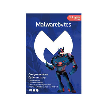 Malwarebytes Premium 10-User 1Yr PC/Mac/Android
