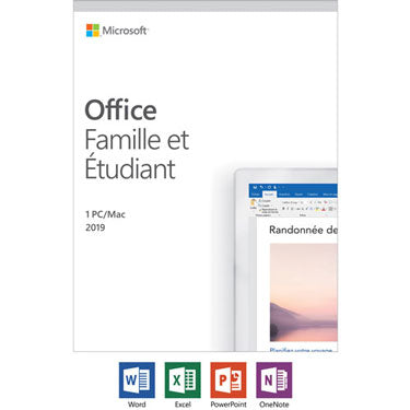 Microsoft Office 2019 Home & Student PC/Mac Francaise