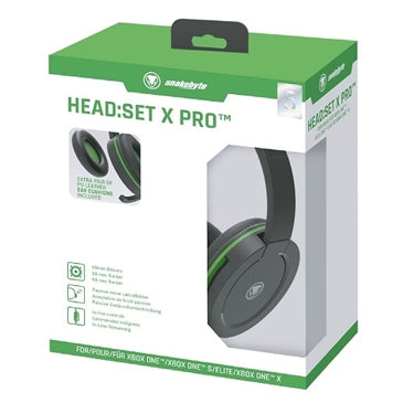 Snakebyte Xbox One Headset X Pro On Ear Black/Green