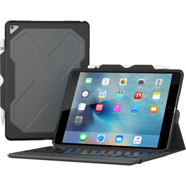 Zagg iPad Air 2019/10.5 2017 Rugged Msgr Bk and KB Case BLK