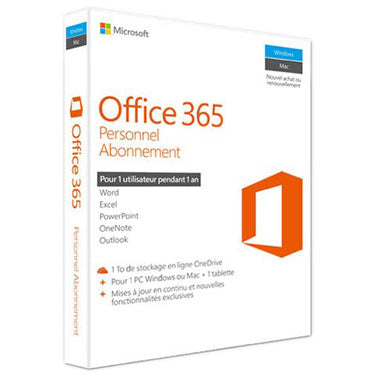 Microsoft Office 365 Personal Version Francaise