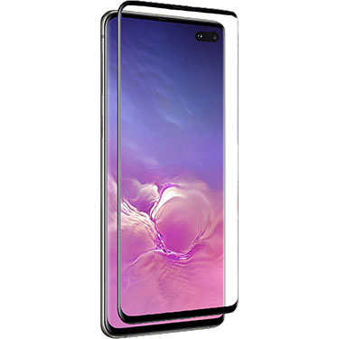 Nitro Galaxy S10+ Tempered Glass Curved Black Bezel