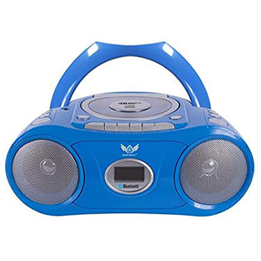 HamiltonBuhl Boombox Bluetooth CD Casette 6 input Blue