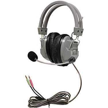 HamiltonBuhl Headset Over Ear Deluxe w/Mic TRRS Plug 2 Jack