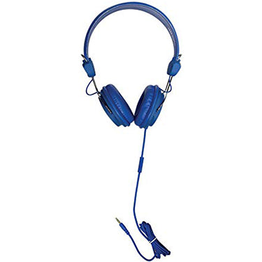 HamiltonBuhl Headset On Ear W/In-Line Mic TRRS Blue