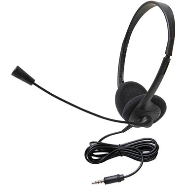 Xtech Headset Stereo w/Mic/Vol Control Black (Wired Headphones and Earphones)