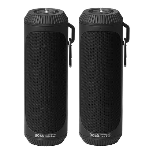 Boss Audio Bluetooth Speaker Set (2) Bolt IPX4 Black
