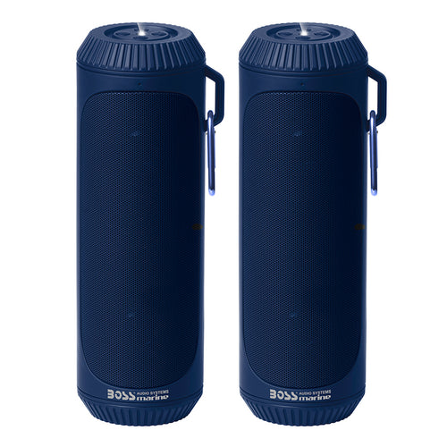 Boss Audio Bluetooth Speaker Set (2) Bolt IPX4 Blue