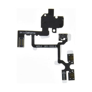 Flex Cable for Apple iPhone 4G HD Headphone PCB Ribbon (with Audio Jack, Volume Button Keyboard) (Black)