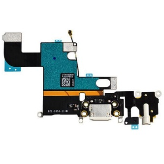 Charging Port with Flex Cable, Mic, Antenna Wire and Earphone Jack White