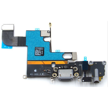 Charging Port with Flex Cable, Mic, Antenna Wire and Earphone Jack Gray