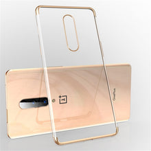 Load image into Gallery viewer, USLION Electroplate Soft Clear Phone Case for Oneplus 7 7 Pro TPU Silicone Plating Case for One Plus 6T 6 5 5T Shockproof Cover