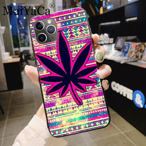 MaiYaCa Abstractionism Art high weed Luxury phone Accessories Case COVER for iPhone 8 7 6S Plus X XS MAX XR 5S SE 5C Coque Shell