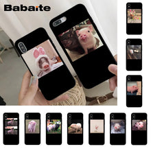 Load image into Gallery viewer, Babaite Cute Little Pink Pet Pig Luxury Phone Cover for iPhone 8 7 6 6S Plus X Xs Xr XsMax 5 5s SE 5c Cover11 11pro 11promax