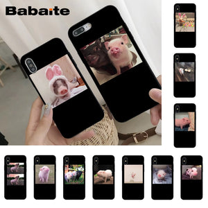 Babaite Cute Little Pink Pet Pig Luxury Phone Cover for iPhone 8 7 6 6S Plus X Xs Xr XsMax 5 5s SE 5c Cover11 11pro 11promax