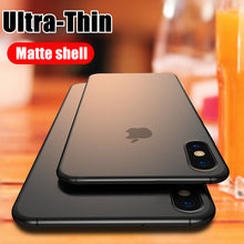 Load image into Gallery viewer, Luxury Ultra Thin 0.2mm Hard PC Phone Case For iphone X XR XS Max Full Cover For iphone7 6 6s  8 Plus Matte Shockproof Case