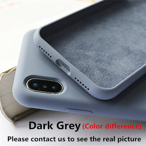 Silicone Case For iPhone 6 6S 7 8 Plus X XS Max XR 11 Pro Max Soft TPU Liquid Phone Case For iPhone XS Max Case Full Protective