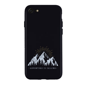 Luxury Phone Case For iPhone 11 X XS XR XS Max 8 7 6 6S 5 Plus Case Mountain Peak Forest Lake Soft Silicone TPU Back Cover Cases