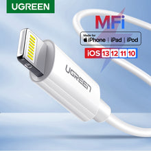 Load image into Gallery viewer, Ugreen MFi USB Cable for iPhone 11 X Xs Max 2.4A Fast Charging USB Charger Data Cable for iPhone Cable 8 7 6Plus USB Charge Cord
