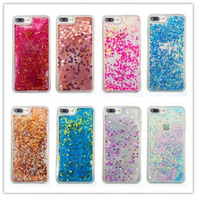 Load image into Gallery viewer, CHANYAOZY Case For iPhone 5 5S SE 6 6S 7 8 Plus 5C 4S Love Heart Star Glitter Dynamic Liquid Quicksand Soft TPU Phone Back Cover