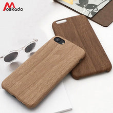 Load image into Gallery viewer, Moskado Wood Grain Phone Case For iPhone 8 7 6 6s Plus Luxury Retro Cover For iPhone X XS Max XR 7 8 Plus Soft PU Back Cover